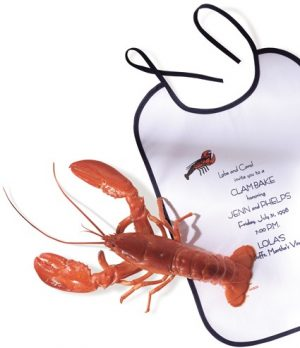 Lobster bib white - Tex-Fab Manufacturer - 44-9269