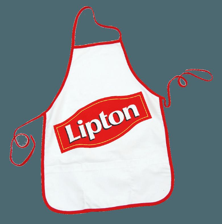 Custom aprons Lipton made by Tex-Fab