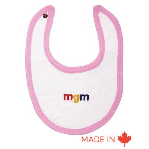 Newborn Terry Bib white- Custom made by Tex-Fab- 44-0203